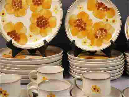 Vintage Denby Minstrel DINNER Set England Yellow Plate