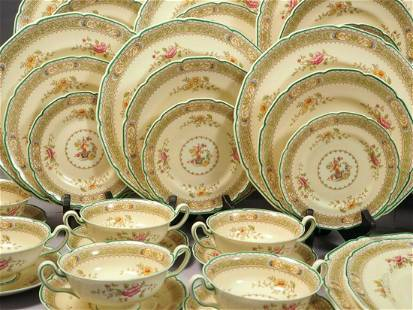 ROYAL DOULTON Lillian SET 12 Dinner Soup Bowls Platter