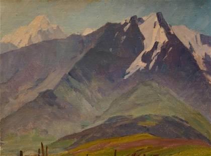 Oil painting Mountain landscape Chernikov Nikolay
