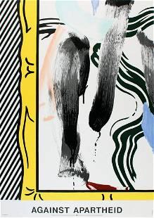 Roy Lichtenstein - Against Apartheid - 1983 Lithograph