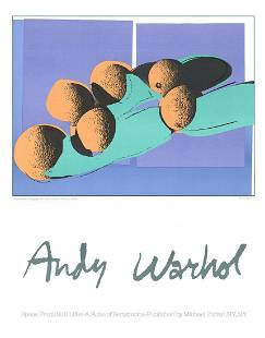 "Andy Warhol - Cantaloupes I - 1990 Lithograph 28"" x 22"""