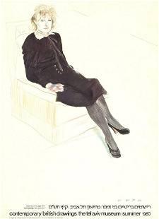 David Hockney - Celia, Paris - 1980 Offset Lithograph