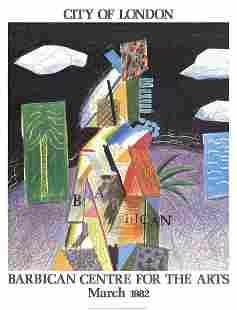 David Hockney - Detail From Cubistic Bar - 1982