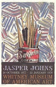 Jasper Johns - Savarin Cans-Monotype - 1977 Offset