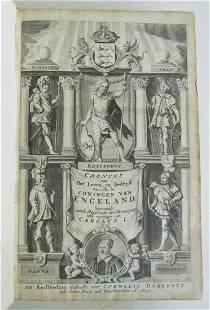 1649 HISTORY of ENGLISH KINGS ILLUSTRATED VELLUM BOUND