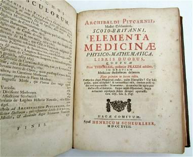 1714 OPUSCULA MEDICA MEDICINA PHYSICO-MATHEMATICA by