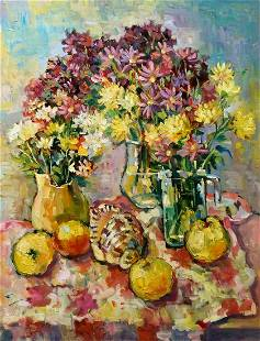 Oil painting Still life with quince Kramarenko Irina