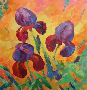 Oil painting Velvet petals Serdyuk Boris Petrovich