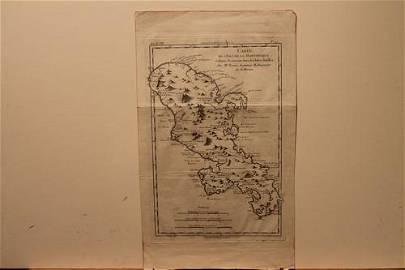 1785 Martinique Map