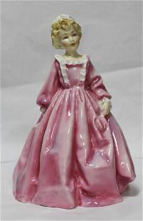 Royal Worcester Figurine Grandmother's Dress' Pink