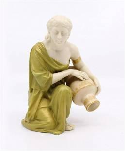Royal Worcester Figurine 637 Kneeling Water Carrier