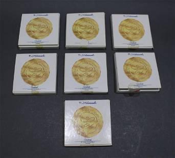 Set of 7 Hummel Boxed Miniature Plates