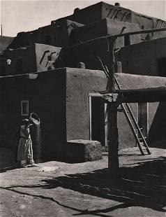 ANSEL ADAMS - Winnowing Grain, Taos