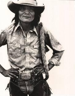 RICHARD AVEDON - Harrison Tsosie, Cowboy, Navajo