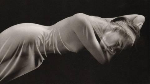 RUTH BERNHARD - Veiled Nude, 1968