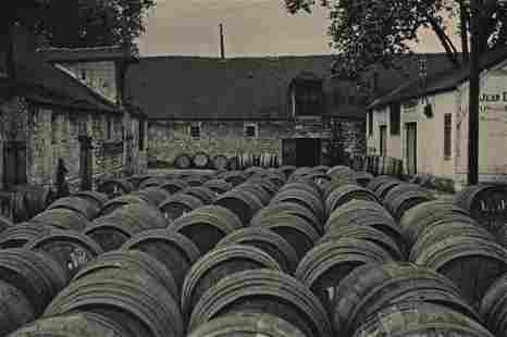 MARIO BUCOVICH - Wine Barrels, Bercy, ca1920's
