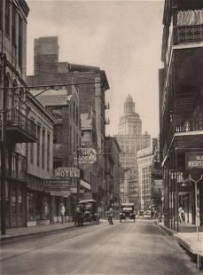 E. O. HOPPÉ - New Orleans street ca 1920's