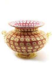Amedeo Rossetto - Murano glass vase murrine with gold