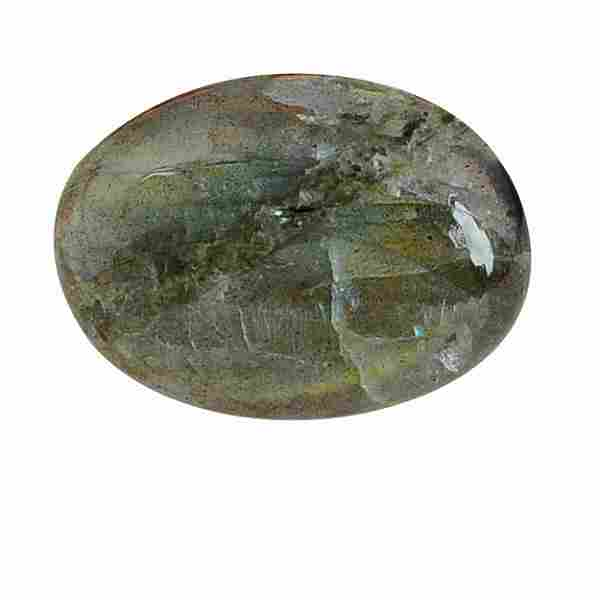 13.6 Carat Green Mix Color Natural Oval Labradorite