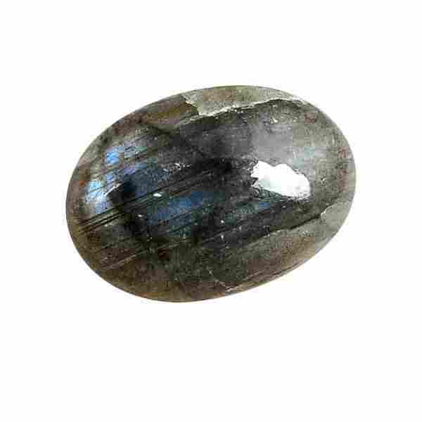 9.65 Carat Green Mix Color Natural Oval Labradorite