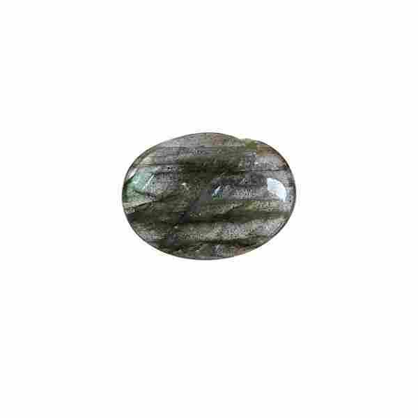 5.35 Carat Green Mix Color Natural Oval Labradorite