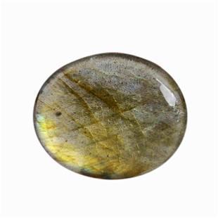 6.45 Carat Green Mix Color Natural Oval Labradorite
