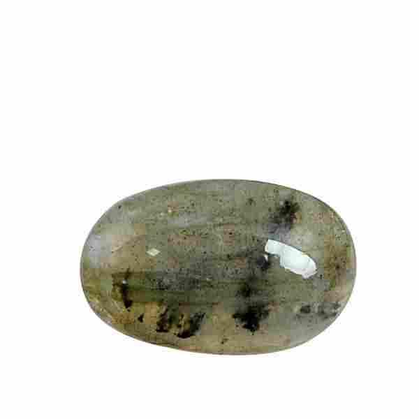 4.35 Carat Green Mix Color Natural Oval Labradorite