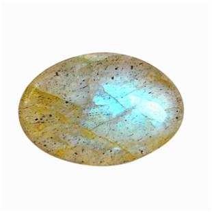 3.75 Carat Green Mix Color Natural Oval Labradorite
