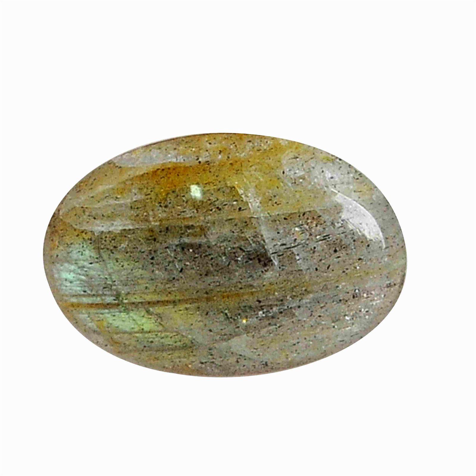 3.3 Carat Green Mix Color Natural Oval Labradorite
