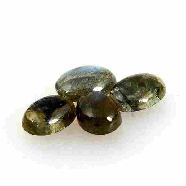 8.7 Carat Green Mix Color Natural Oval Labradorite