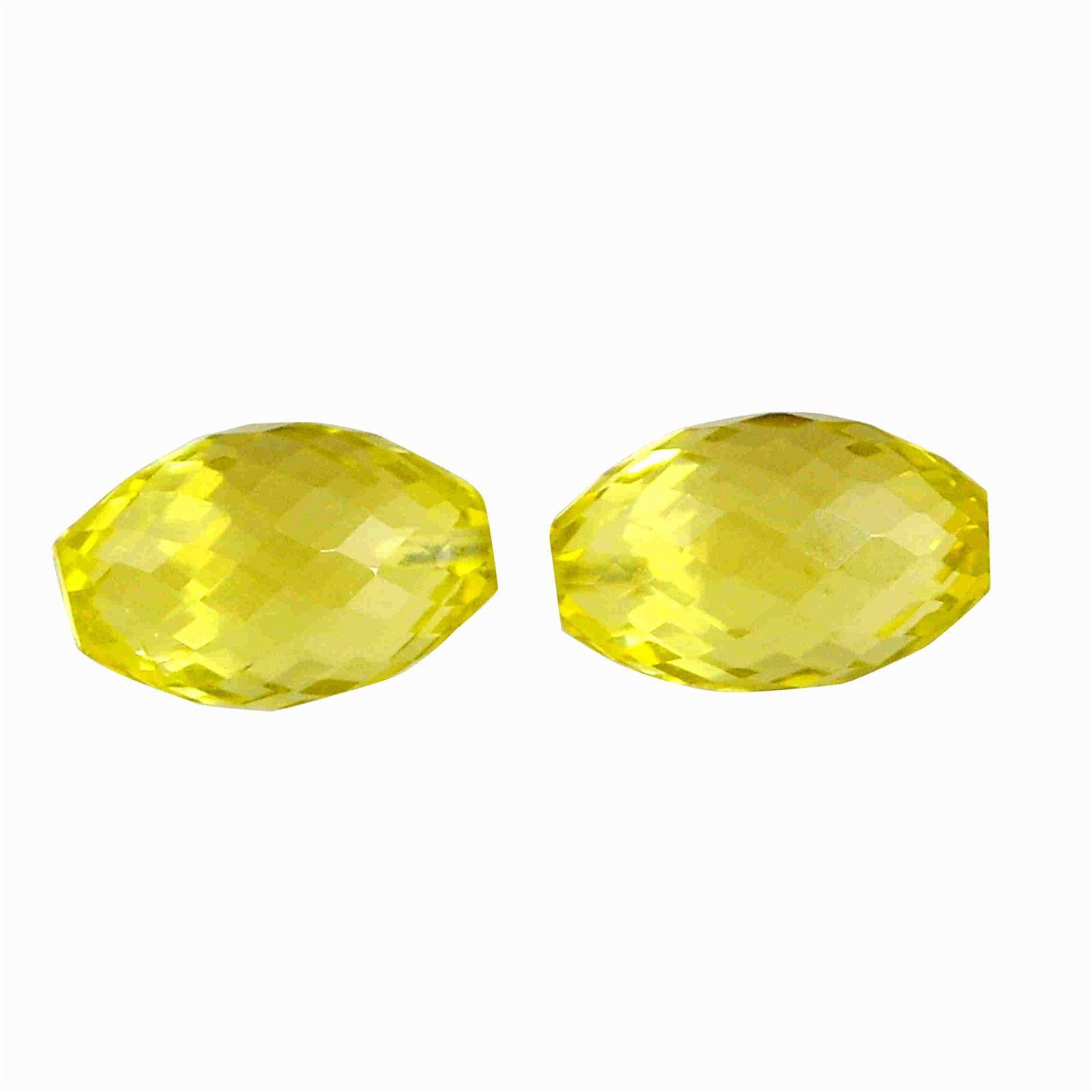 16.35 Carat Yellow Color Natural Drops Lemon Quartz