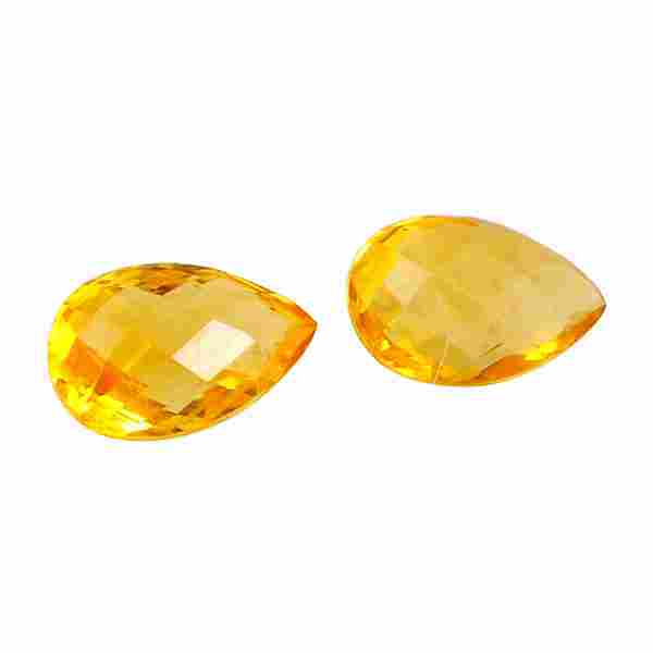 2.8 Carat Yellow Color Natural Pear Citrine Loose