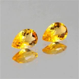3.45 Carat Yellow Color Natural Pear Citrine Loose