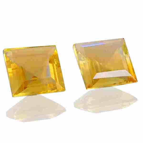 5.45 Carat Yellow Color Natural Square Citrine Loose