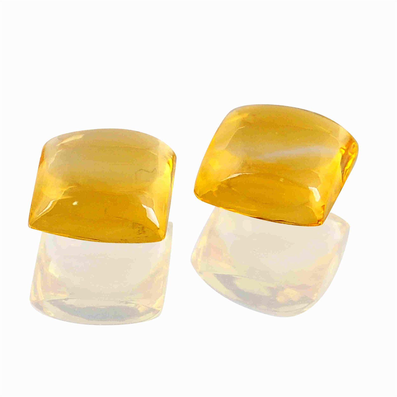 3.8 Carat Yellow Color Natural Square Citrine Loose