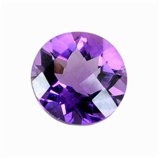 5.6 Carat Purple Color Natural Round Amethyst Loose