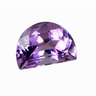 6.45 Carat Purple Color Natural Half Moon Amethyst