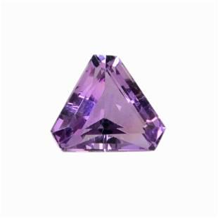 5.3 Carat Purple Color Natural Trillion Amethyst Loose