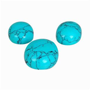 28.1 Carat Blue Color Natural Oval Turquoise Loose