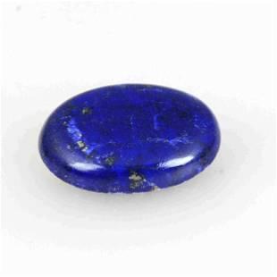 34.65 Carat Blue Color Natural Oval Lapis Loose