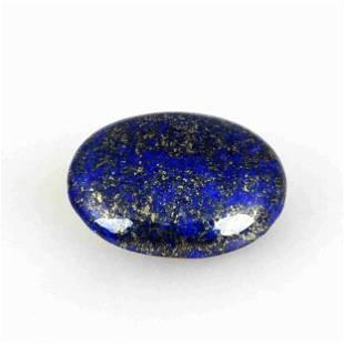 18.15 Carat Blue Color Natural Oval Lapis Loose
