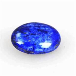 26.4 Carat Blue Color Natural Oval Lapis Loose Gemstone
