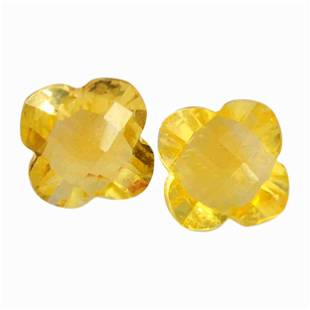 3.9 Carat Yellow Color Natural Square Citrine Loose
