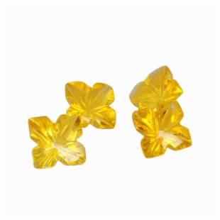 2.45 Carat Yellow Color Natural Square Citrine Loose
