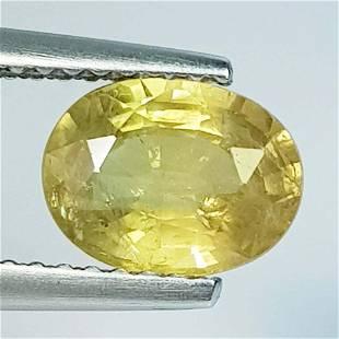 1.80 ct Natural Yellow Sapphire