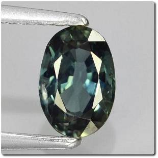 Natural Sapphire 0.88ct Oval Bluish Green VVS
