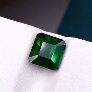 Tourmaline, 4.08 Cts Natural Green Color & Emerald Cut