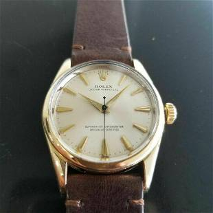 Mens Rolex Oyster Perpetual 1014 34mm Automatic Gold