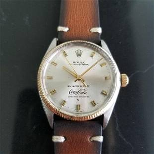 Mens Rolex Oyster 1005 14k Gold & SS Automatic Coca