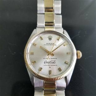 Mens Rolex Oyster 1005 14k Gold SS Automatic Coca Cola
